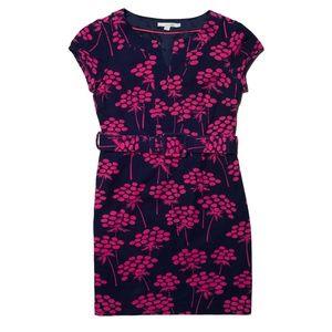 Boden Floral Belted Sheath Dress